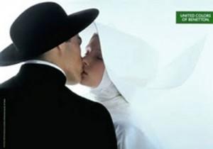 Benetton beso cura y monja