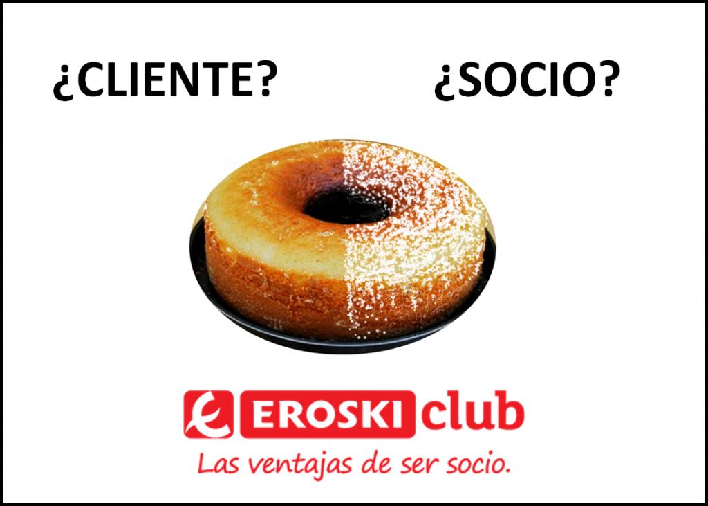 Eroski Club publicidad bizcocho