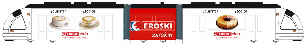Eroski Club publicidad tranvía