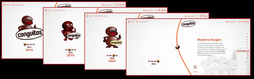 Conguitos Logo en web